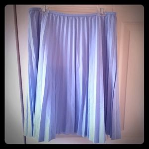 Sky blue, pleated, skirt. NWT